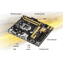 ATX ASUS (B85M-E) INTEL 1150/32G/4XDDR3/6SATA/DVD-I/HDMI