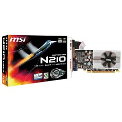 TARJETA DE VIDEO MSI NVIDIA N-210 1GB DDR3 64BIT DVI-VGA-HDMI