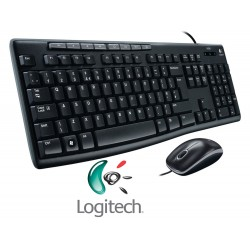 KIT LOGITECH (MK200) TECLADO/MOUSE MEDIA USB ESP