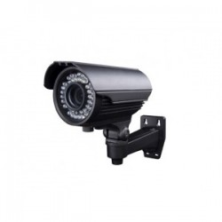 "CAMARA DE SEGURIDAD COLOR GRIS 700TVL 42IR LED 35M VISION NOCTURNA METALISCAS LENTE SONY 1/3"" 2.8-12MM MANUAL Z"